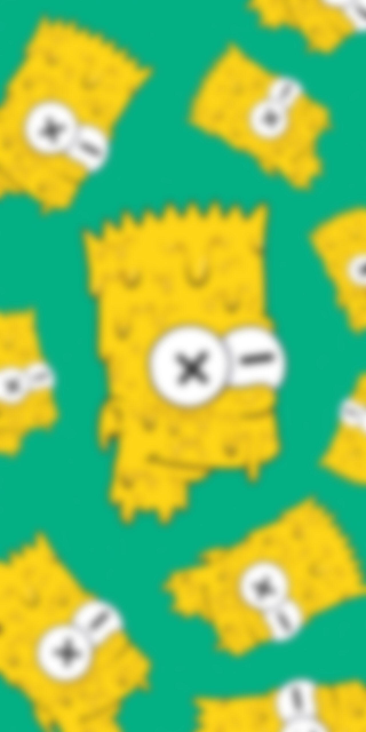 bart simpson drip face locked blur wallpaper