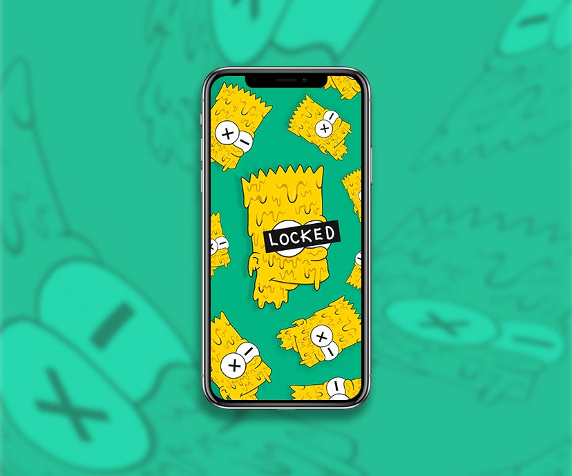 bart simpson drip face locked wallpapers collection