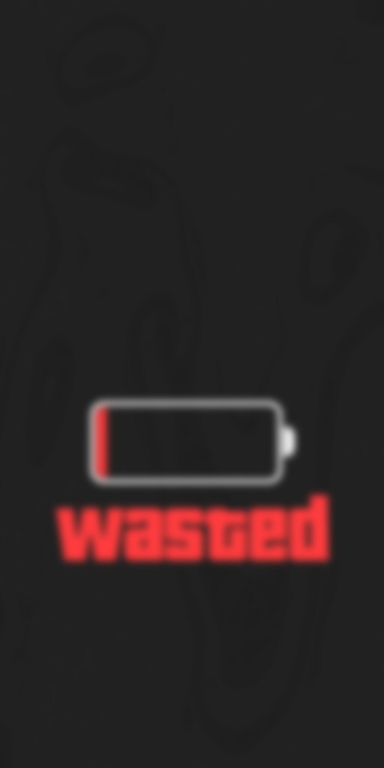 low battery wasted dark blur wallpaper