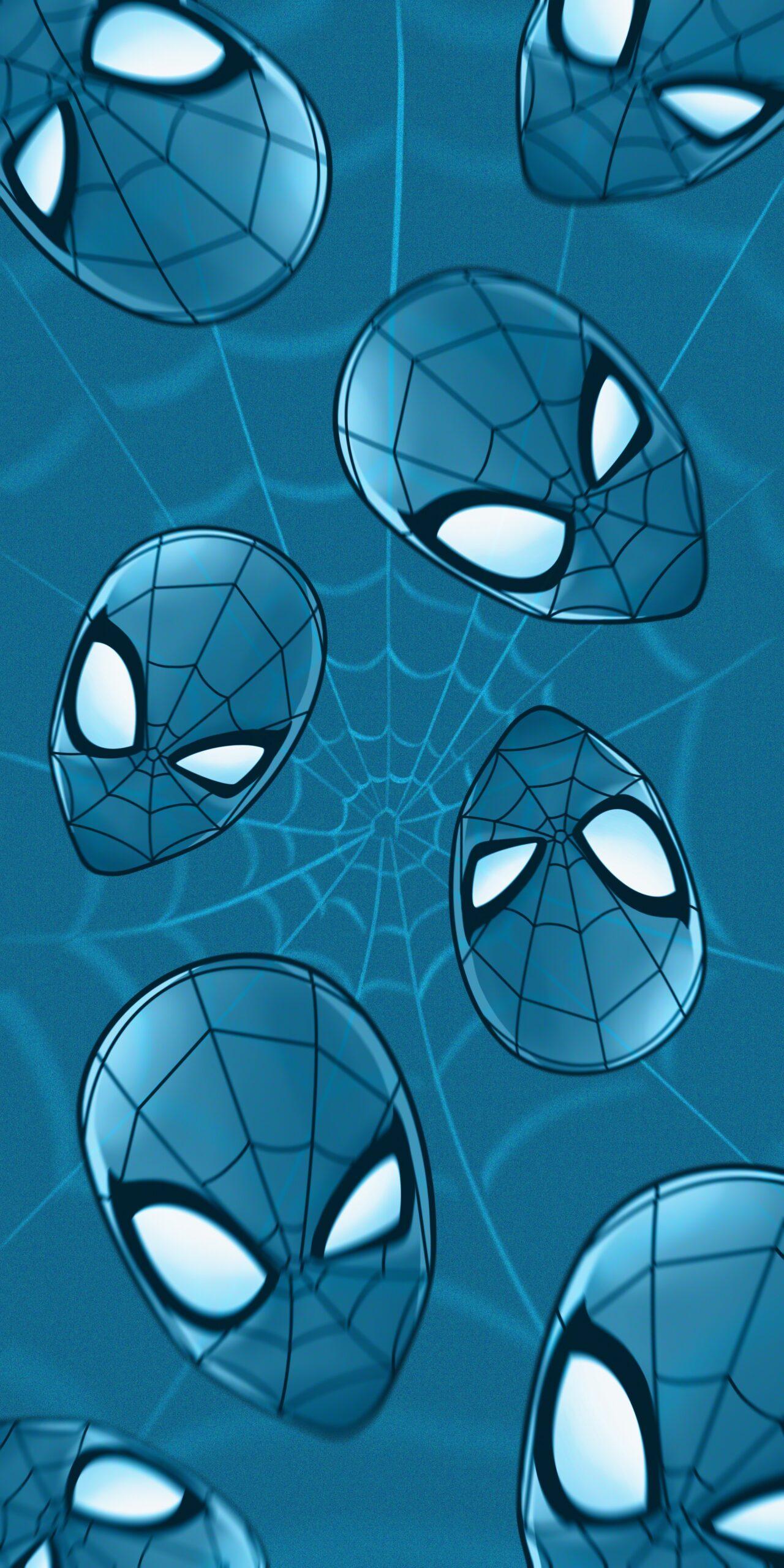 marvel spider-man blue background wallpaper