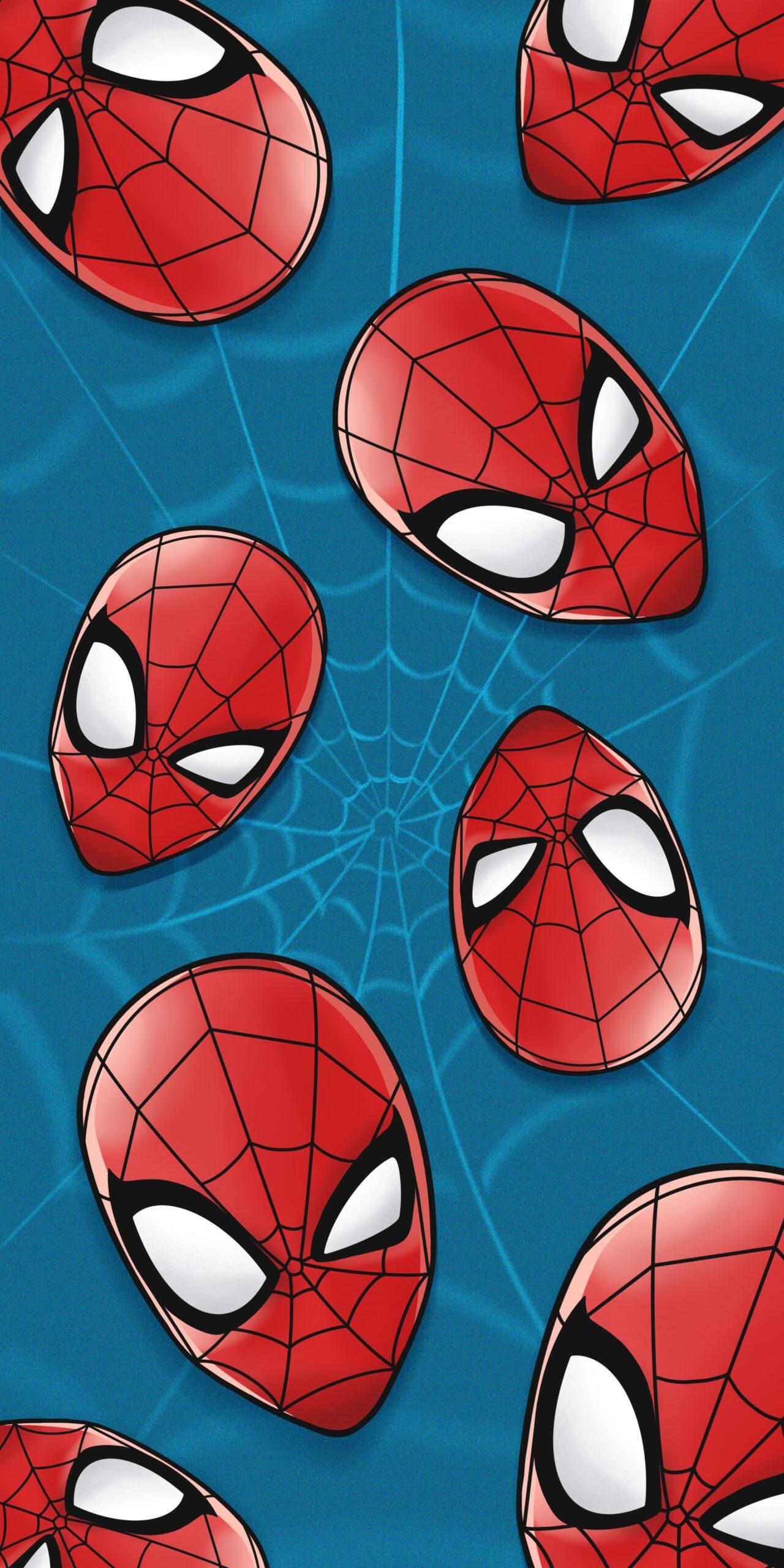 marvel spider-man blue wallpaper