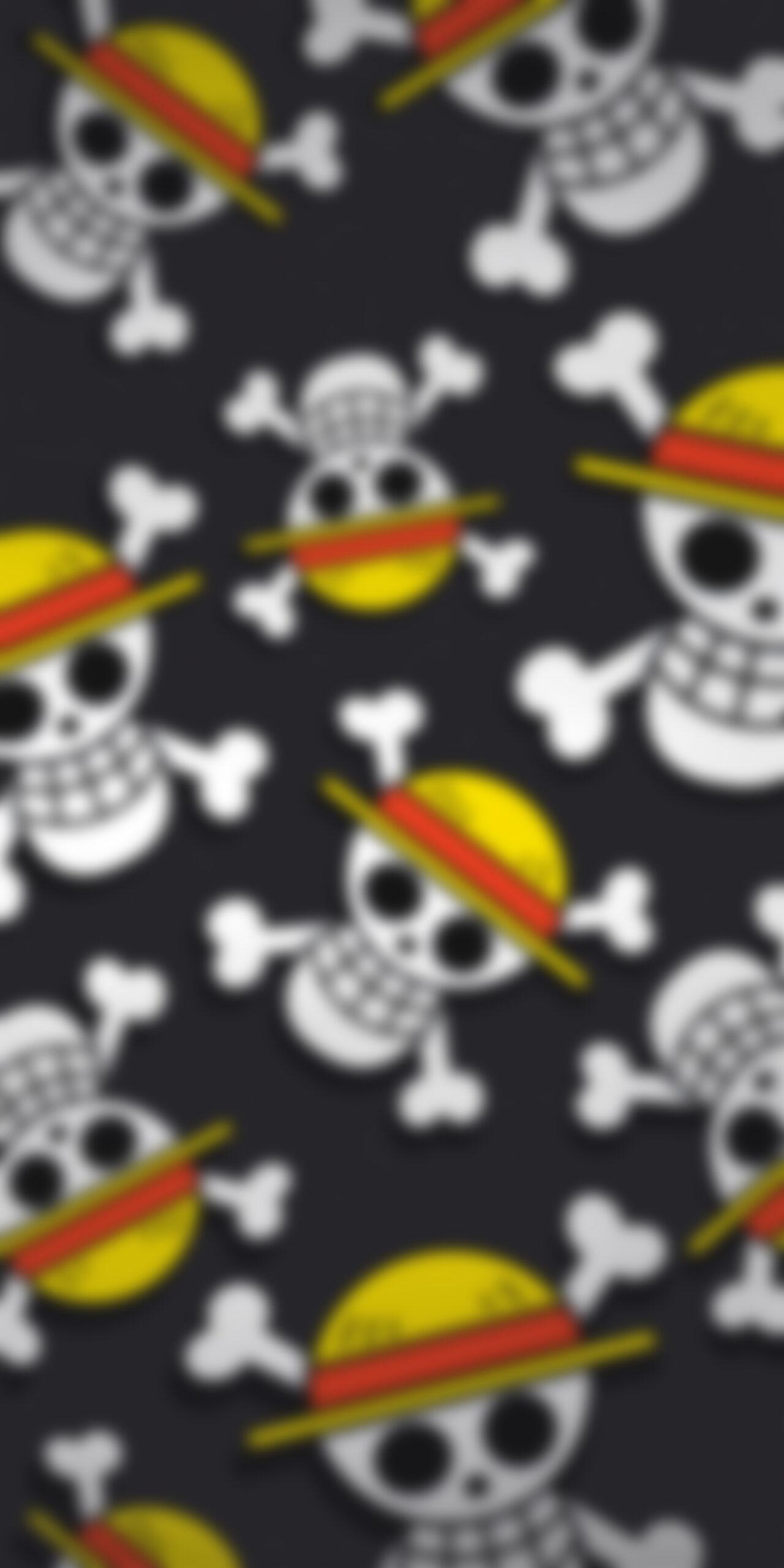 one piece straw hat pirates dark blur wallpaper