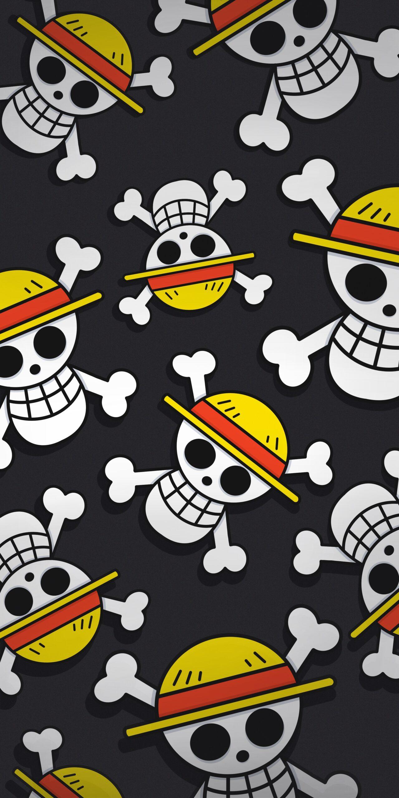 one piece straw hat pirates dark wallpaper