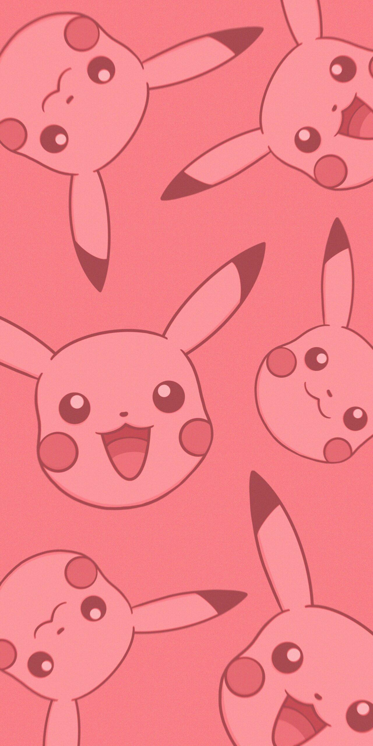 pokemon smiling pikachu pink background wallpaper jpg