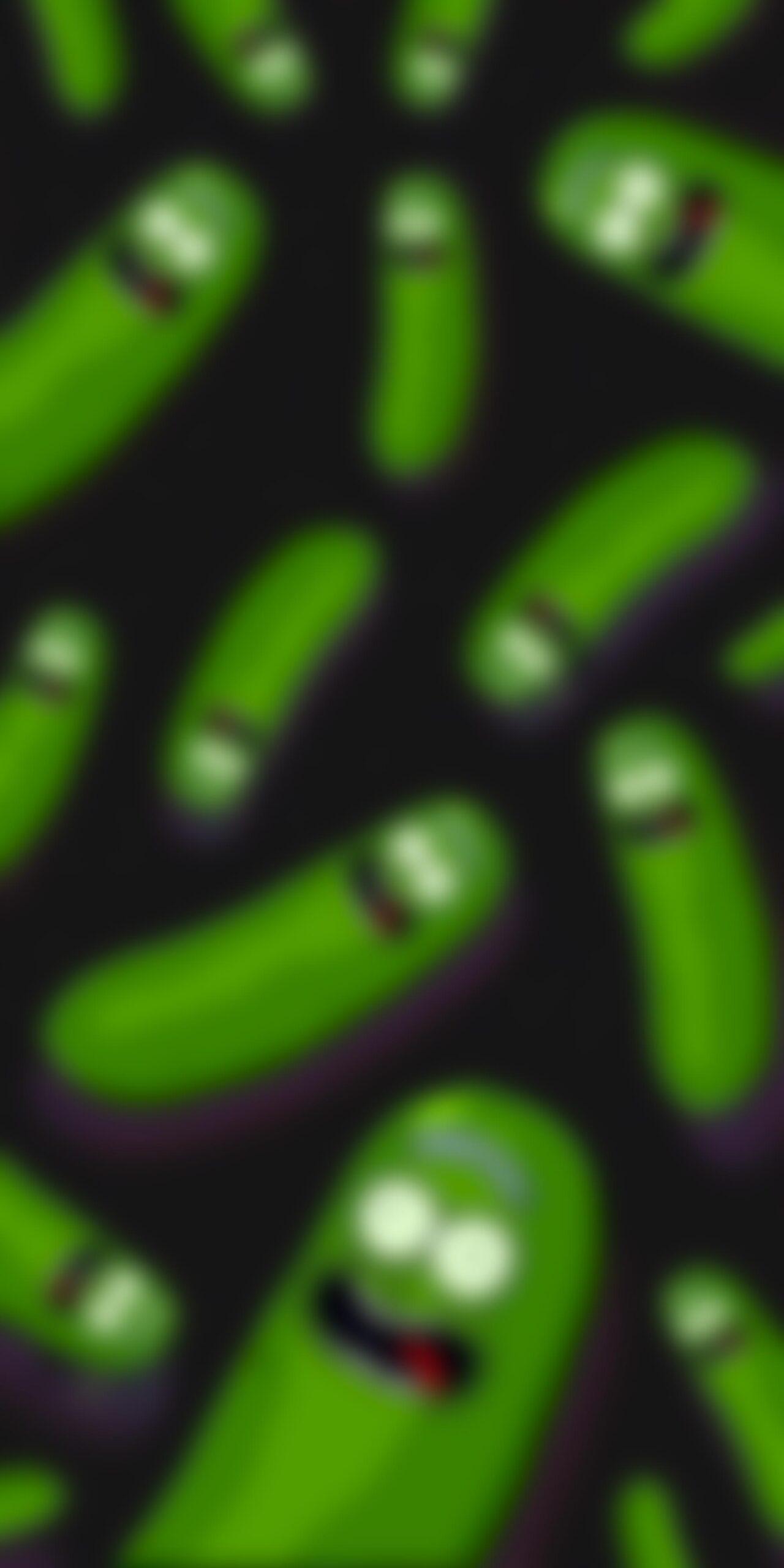 Pickle Rick Blur Phone Wallpaper