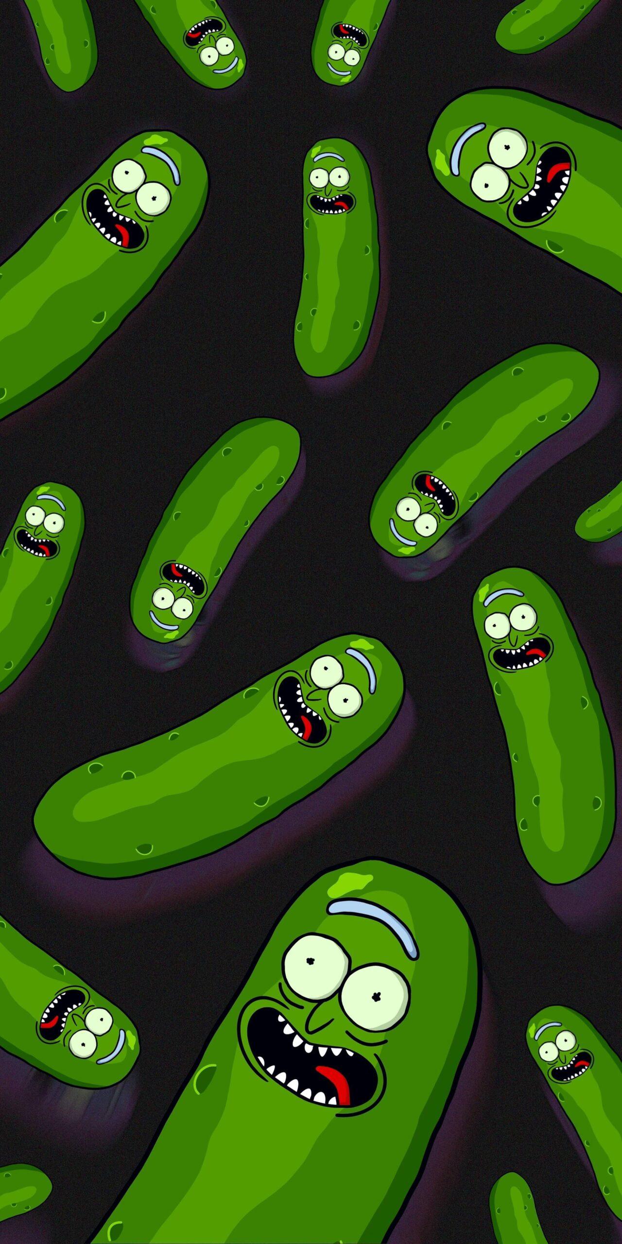 Pickle Rick Phone Wallpaper