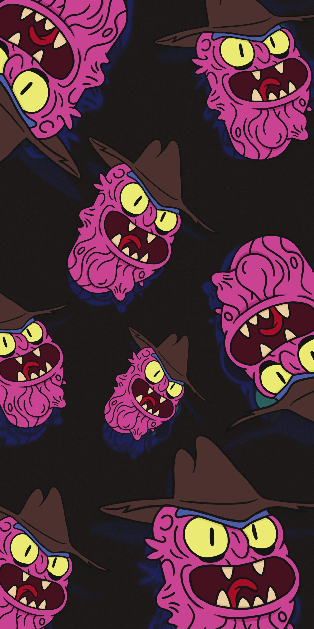 rick and morty smiling scary terry wallpaper