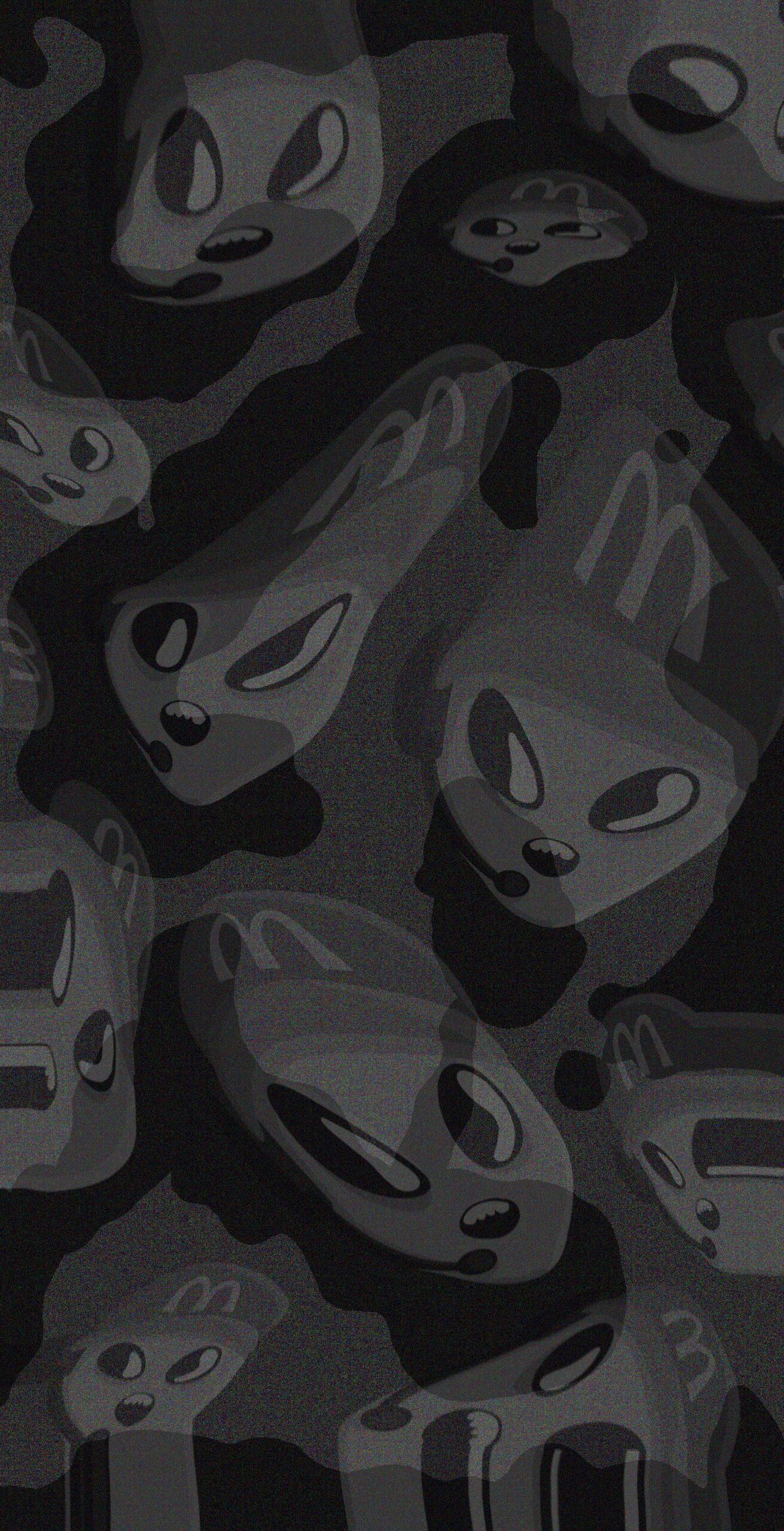 space green alien mcdonalds employee background wallpaper