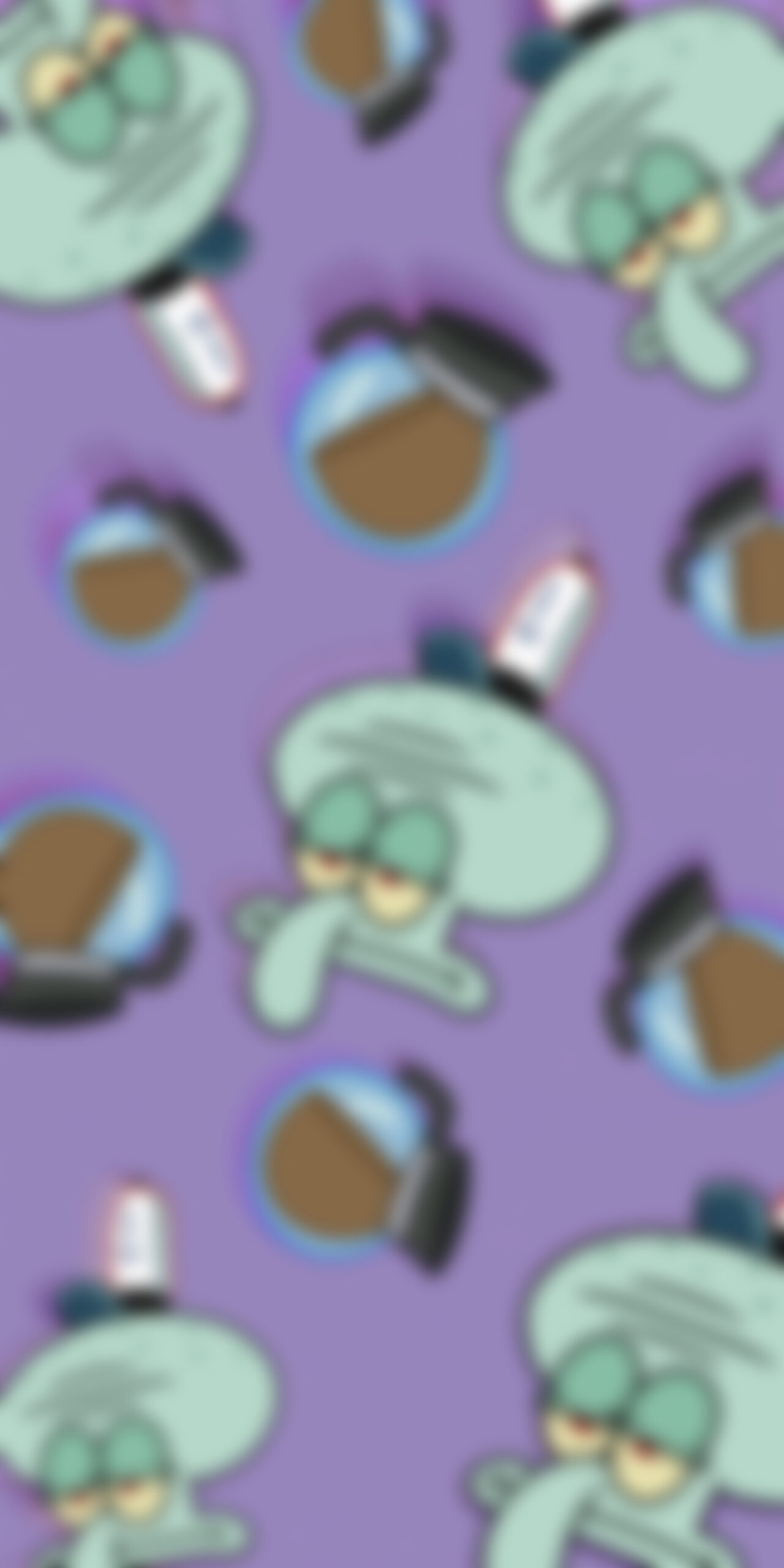 spongebob squidward monday vibes blur wallpaper