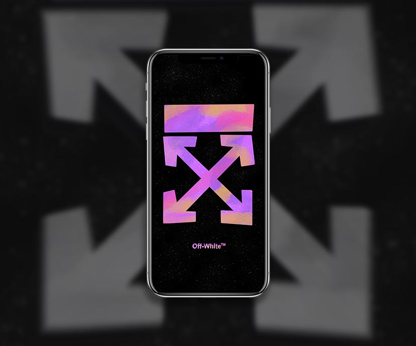 streetwear off white purple spray blur wallpapers collection