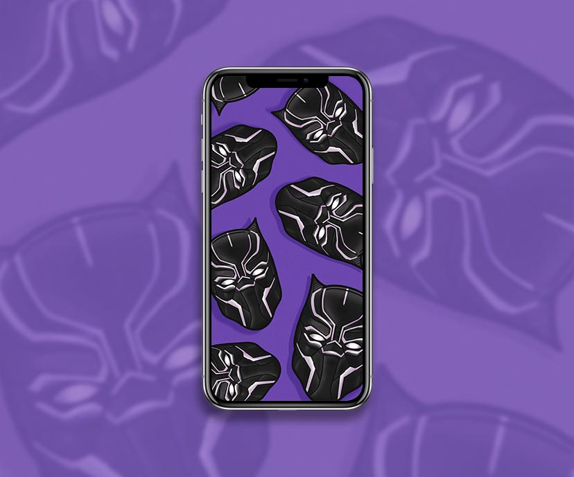 black panther head purple wallpapers collection