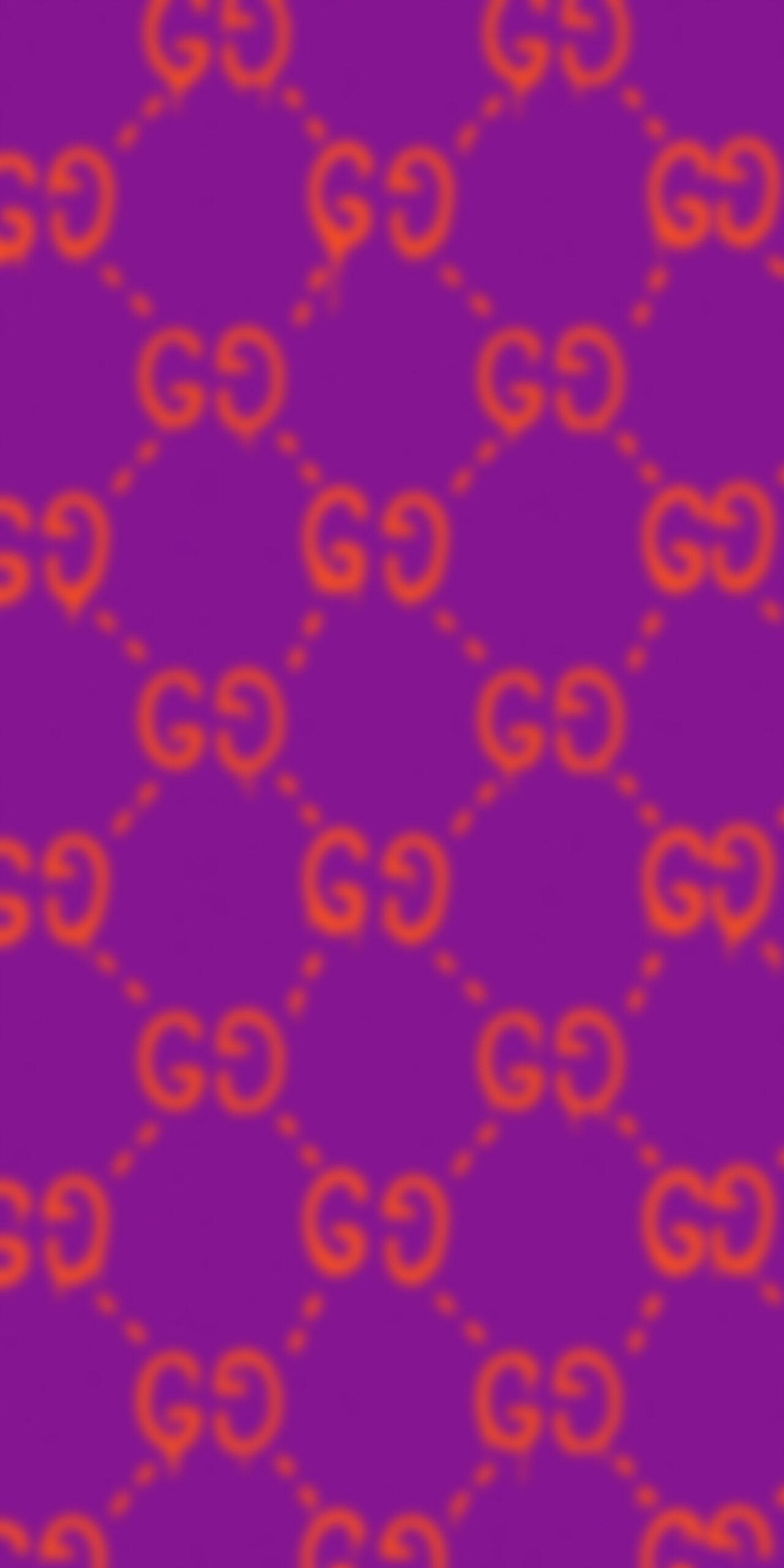 gucci ghost pattern purple blur wallpaper