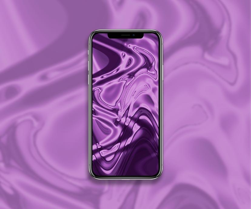 liquid metal purple wallpapers collection