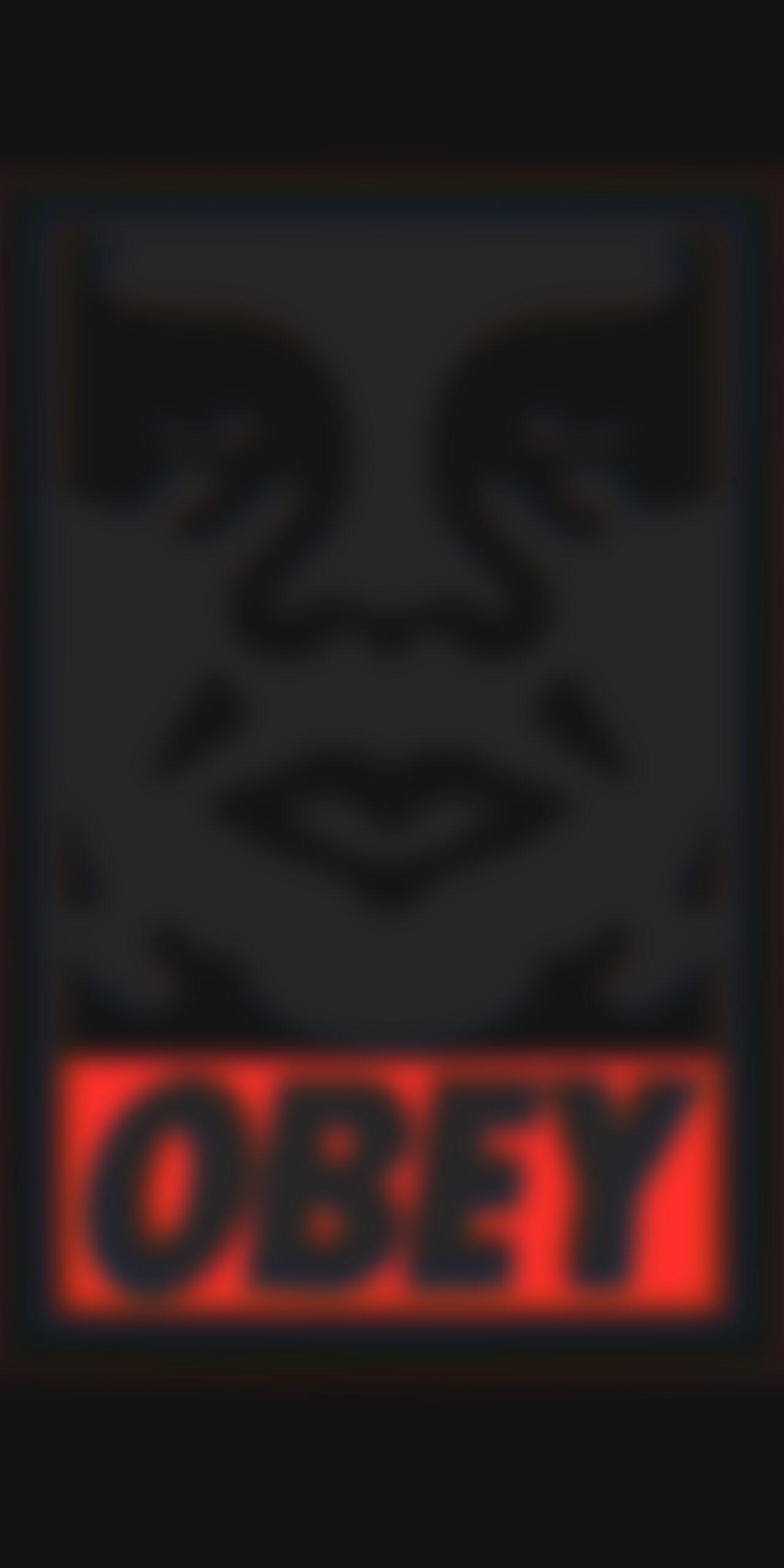 obey dark blur wallpaper