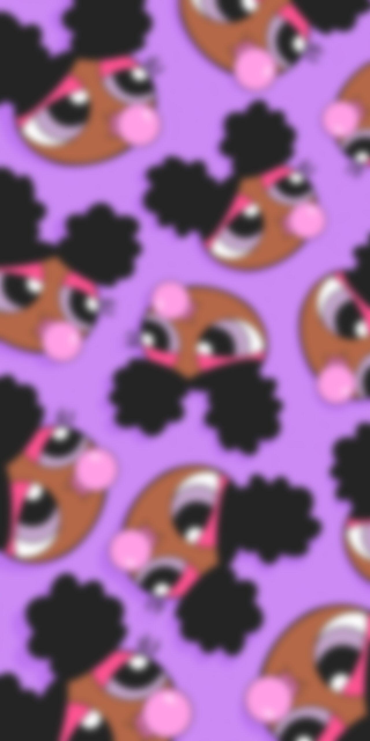 powerpuff girls bubblegum purple blur wallpaper