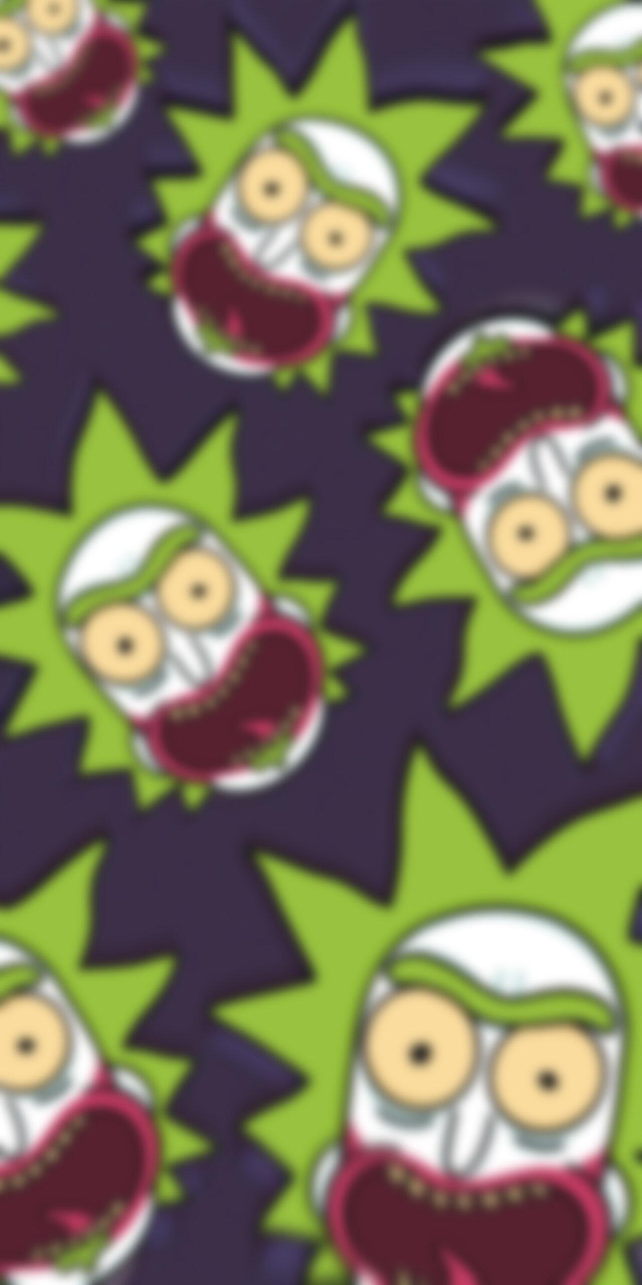 rick and morty rick sanchez joker purple blur wallpaper