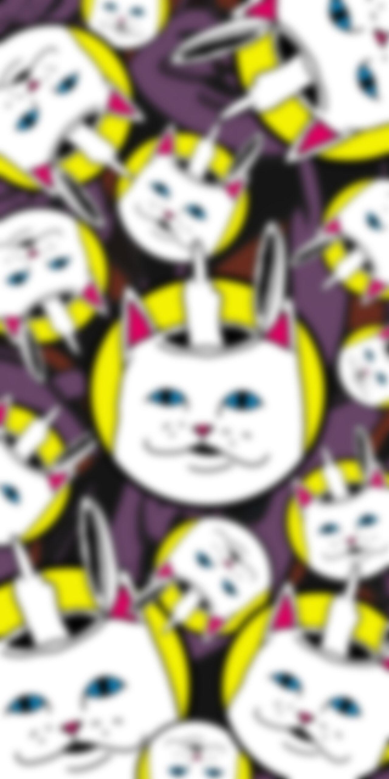 ripndip lord nermal mind blur wallpaper