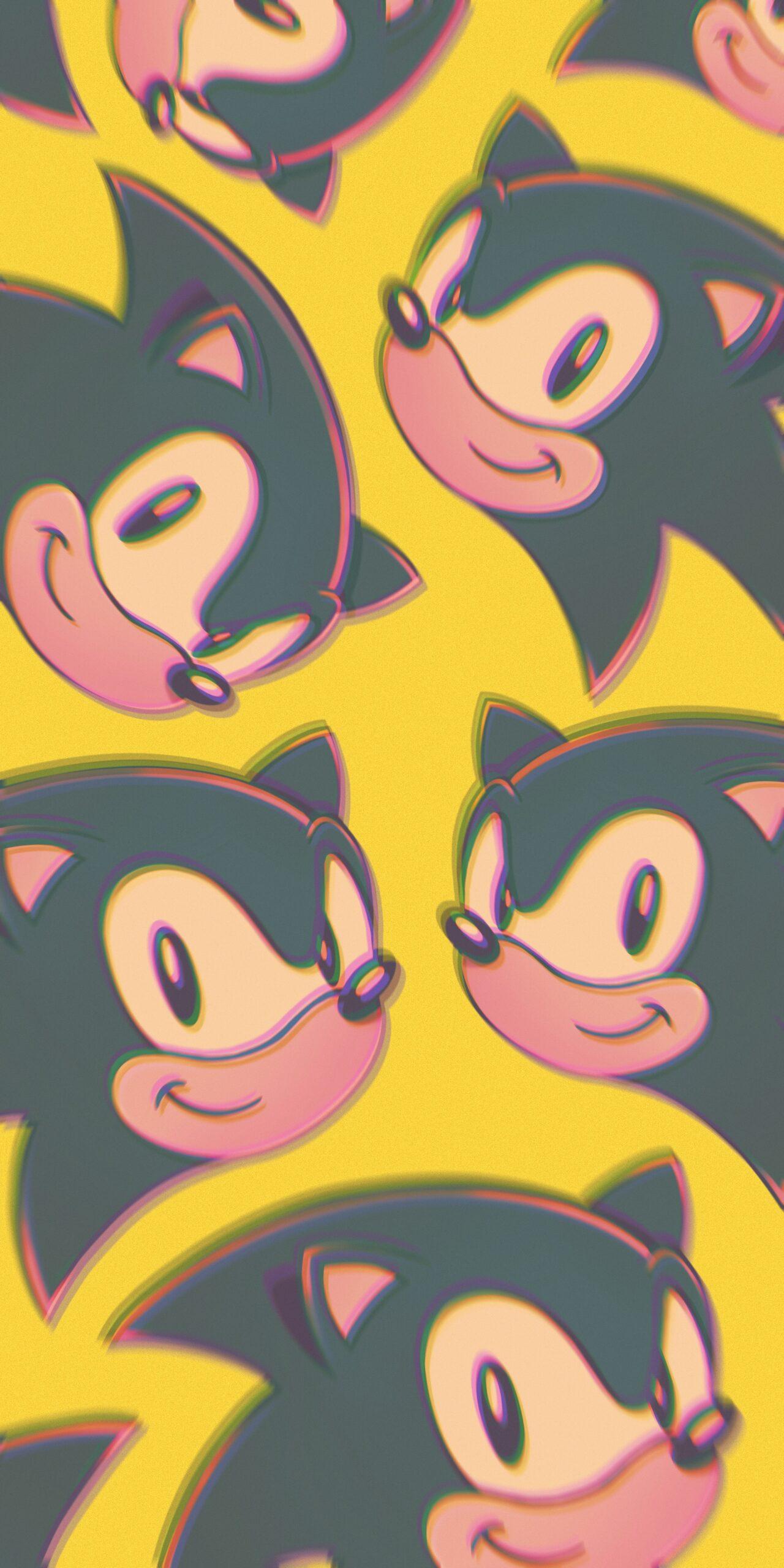 sonic yellow background wallpaper