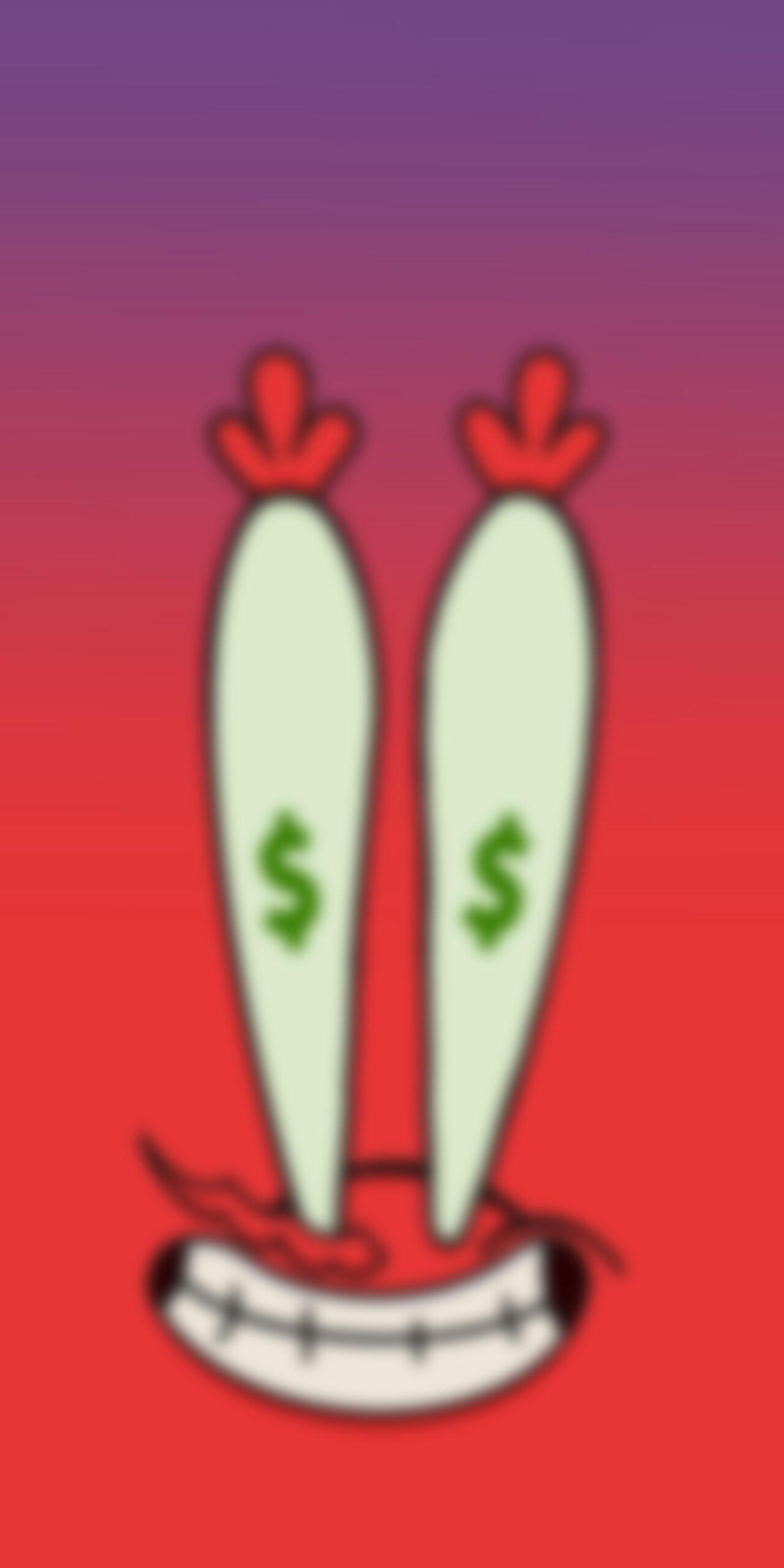 spongebob mr krabs money eyes red blur wallpaper