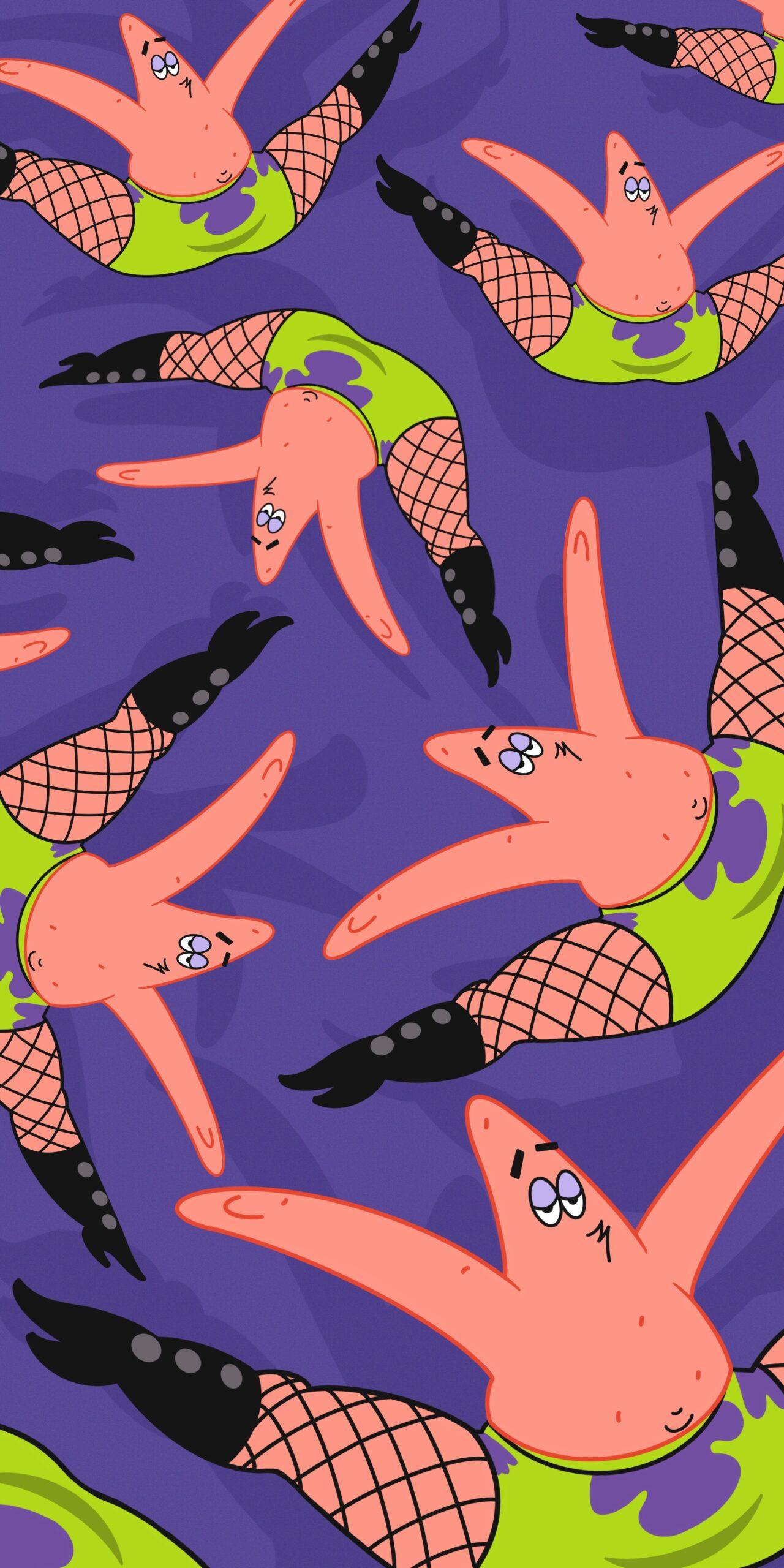 spongebob patrick star fishnet stockings wallpaper