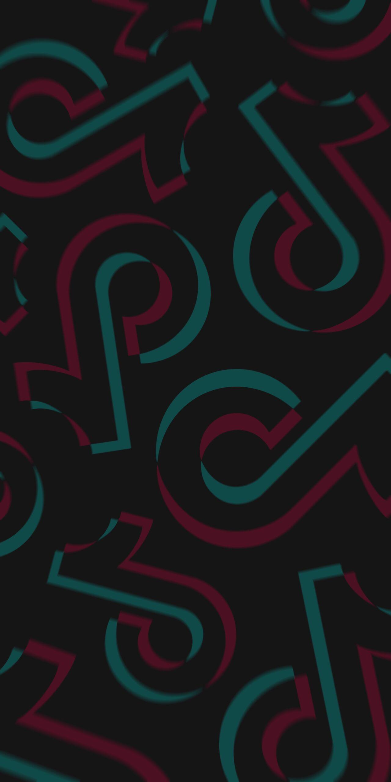 tik tok logo black background wallpaper