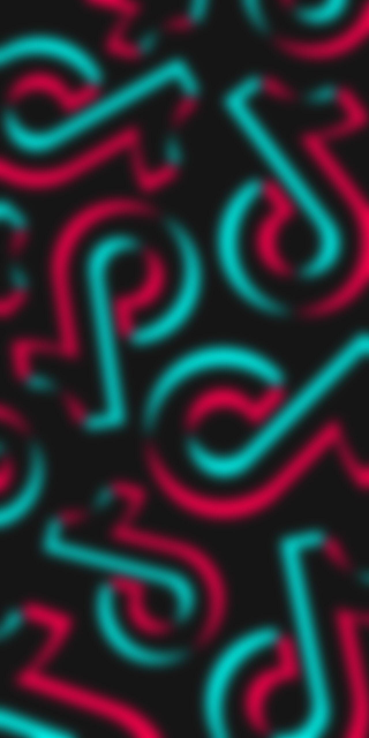 tik tok logo black blur wallpaper