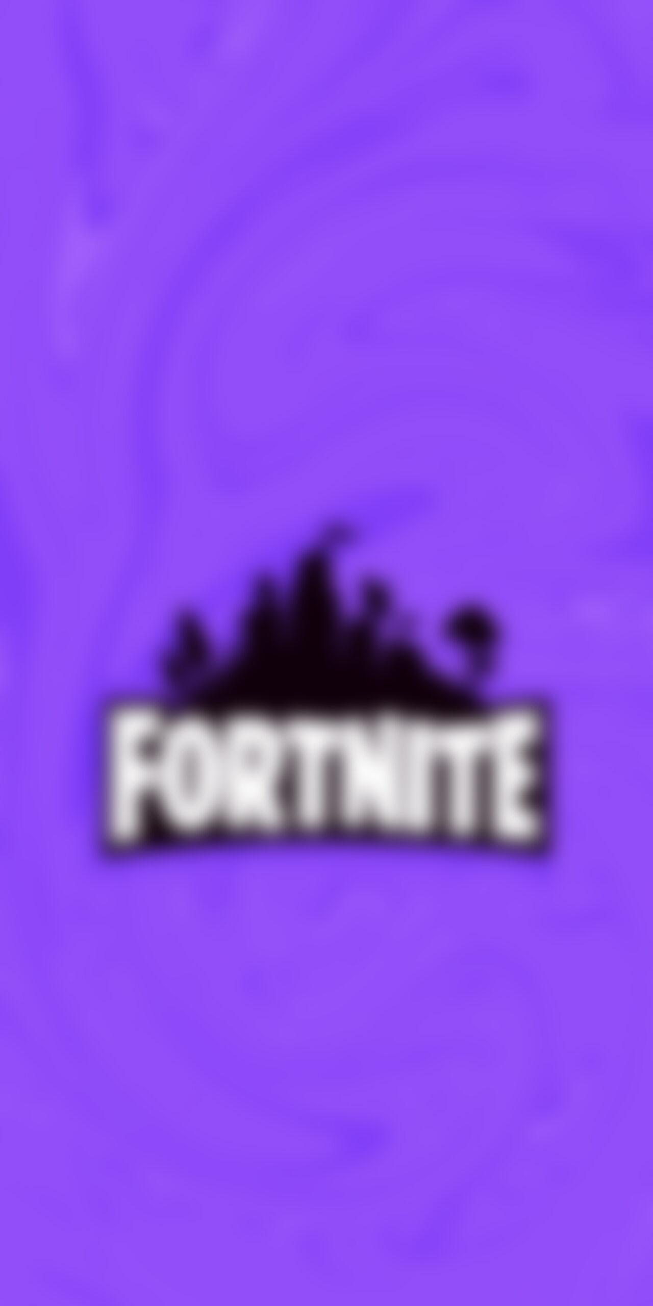 fortnite logo purple blur wallpaper