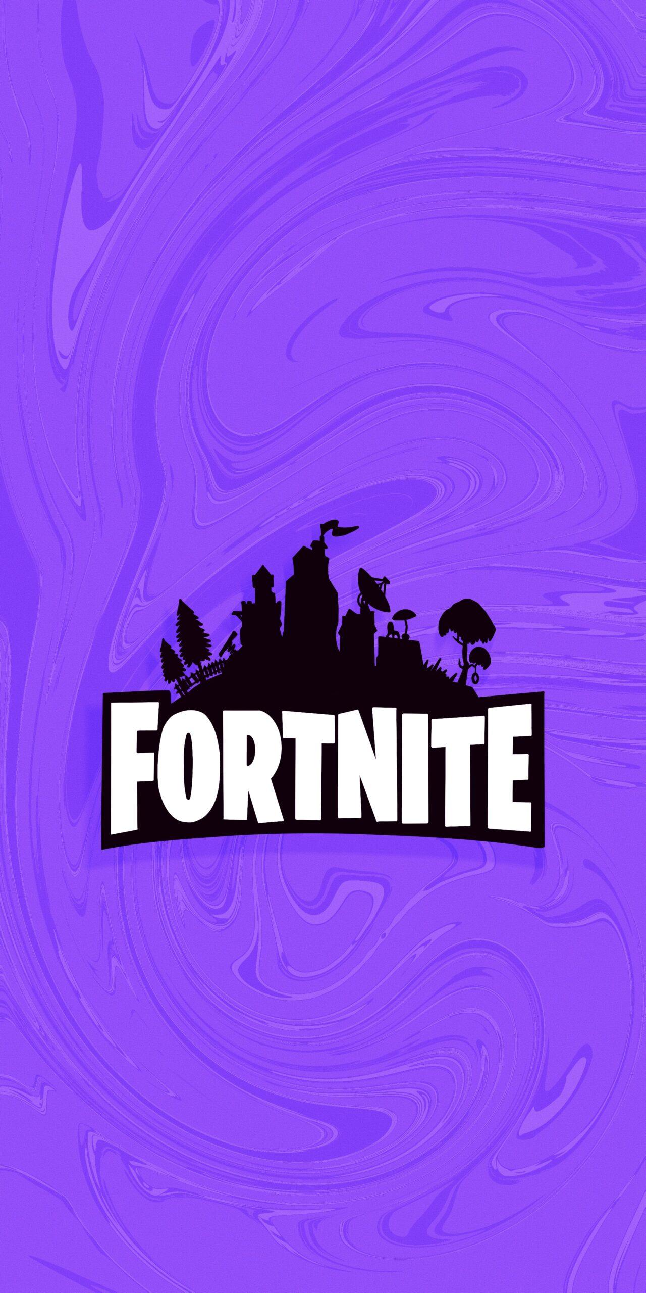 fortnite logo purple wallpaper