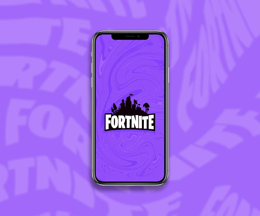 fortnite logo purple wallpapers collection