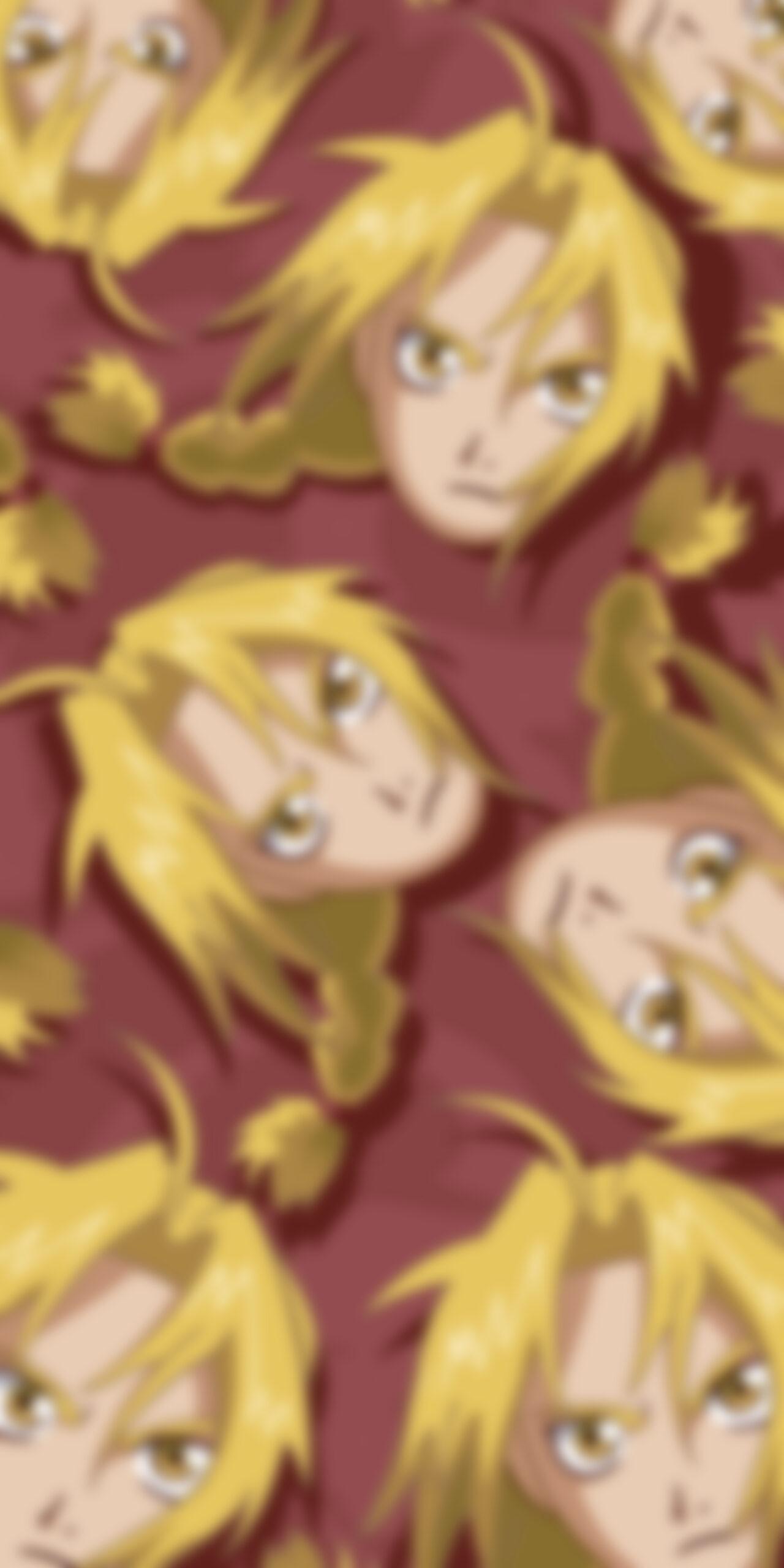 fullmetal alchemist edward elric red blur wallpaper