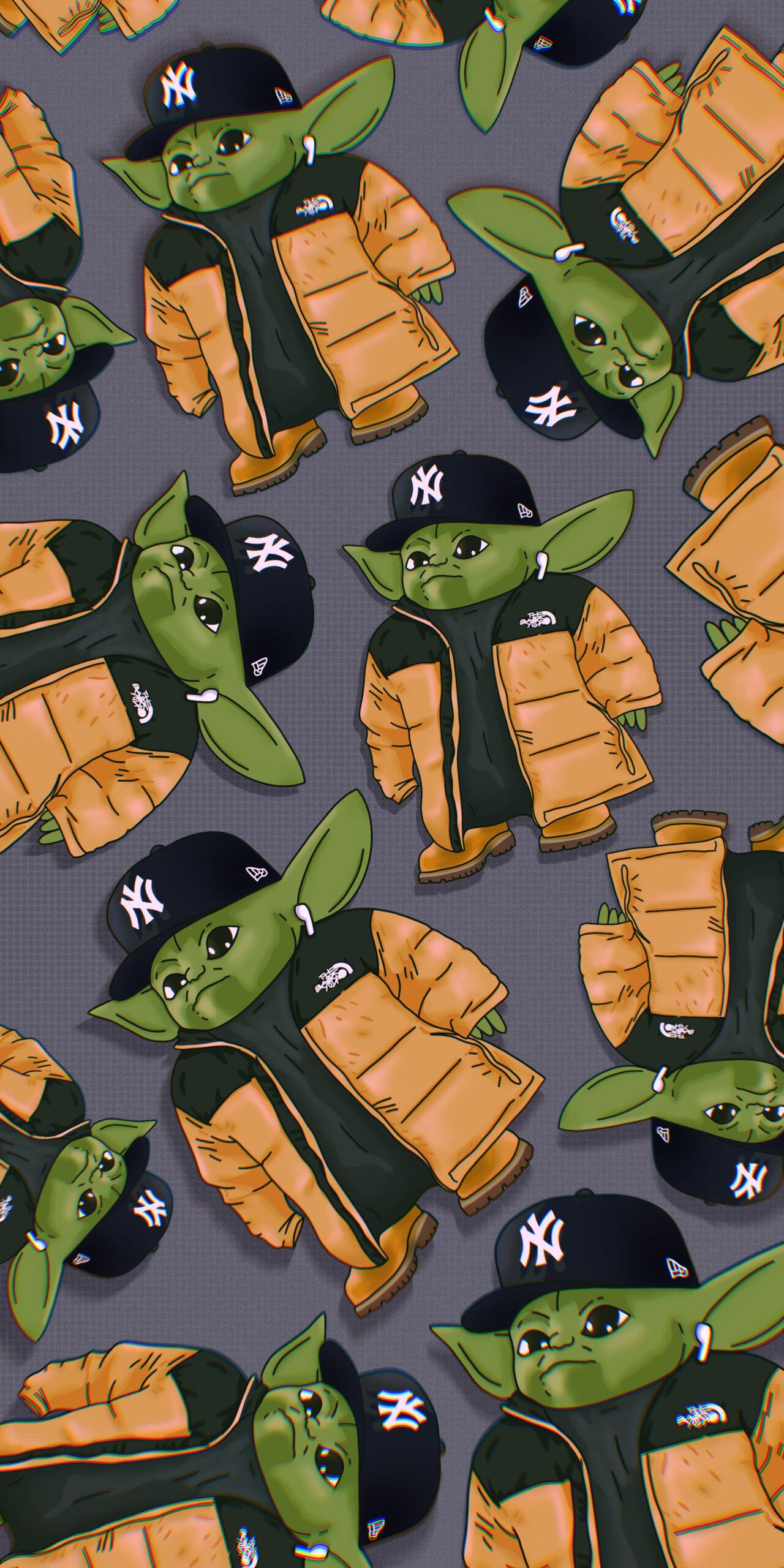new york baby yoda meme wallpaper