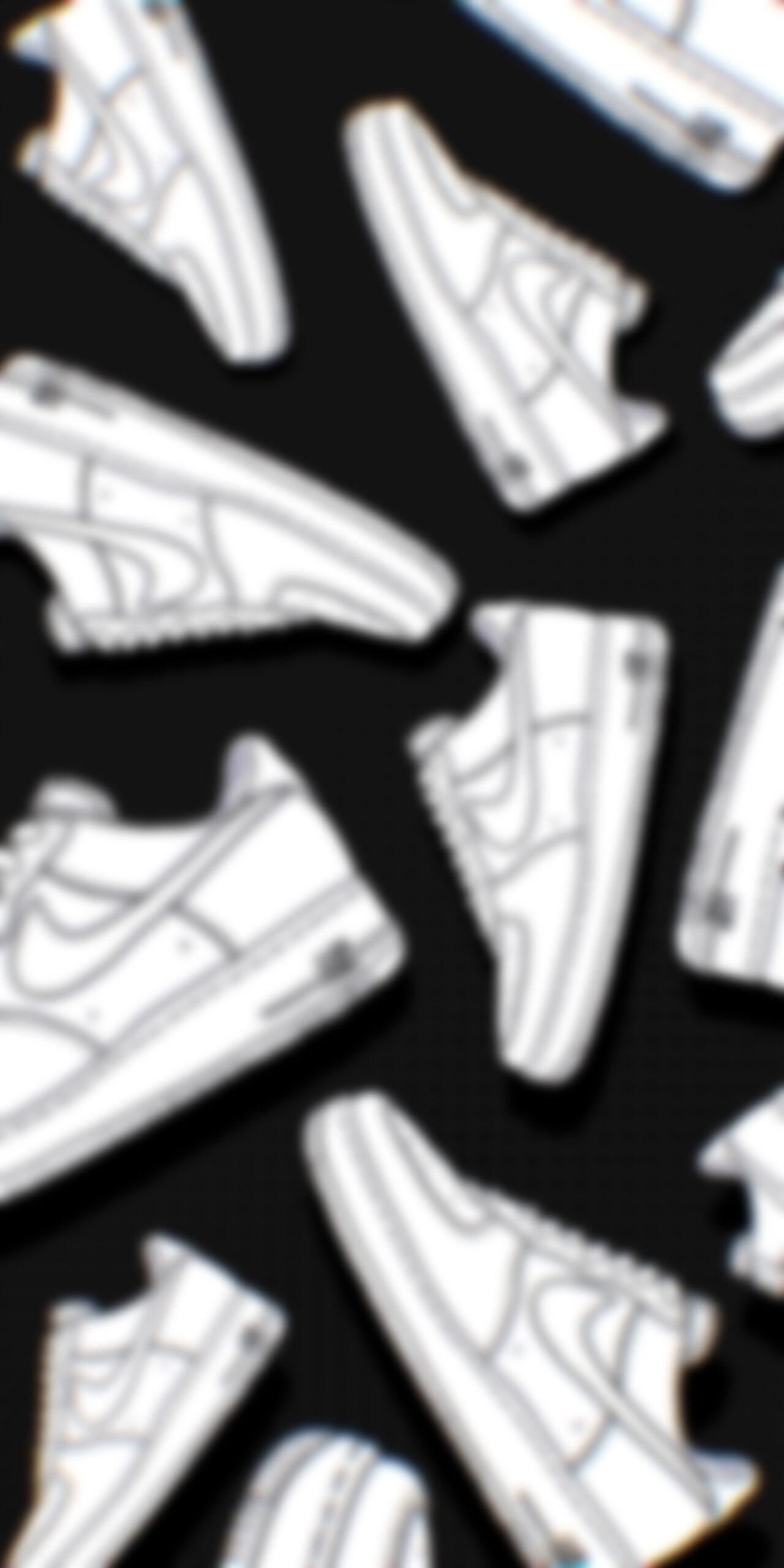 nike air force 1 shoes white black blur wallpaper