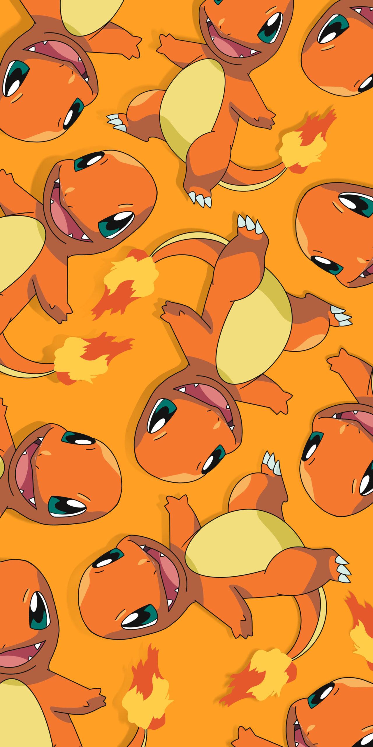 pokemon charmander orange wallpaper