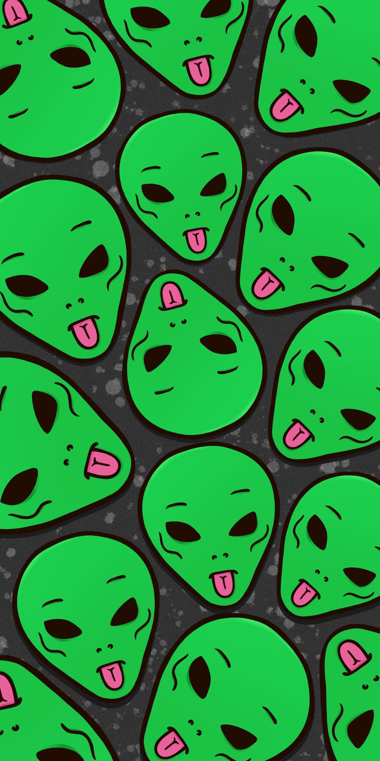 ripndip lord alien green dark wallpaper