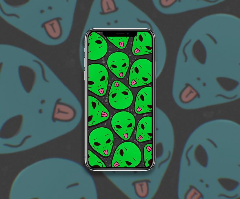 ripndip lord alien green dark wallpapers collection