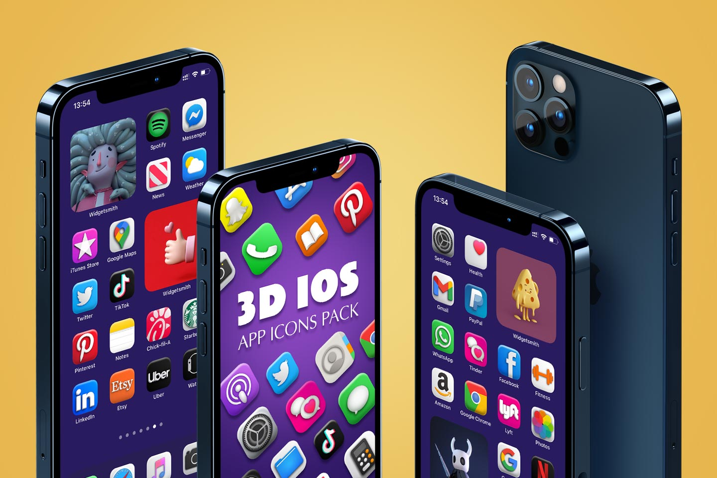 3d ios app icons pack