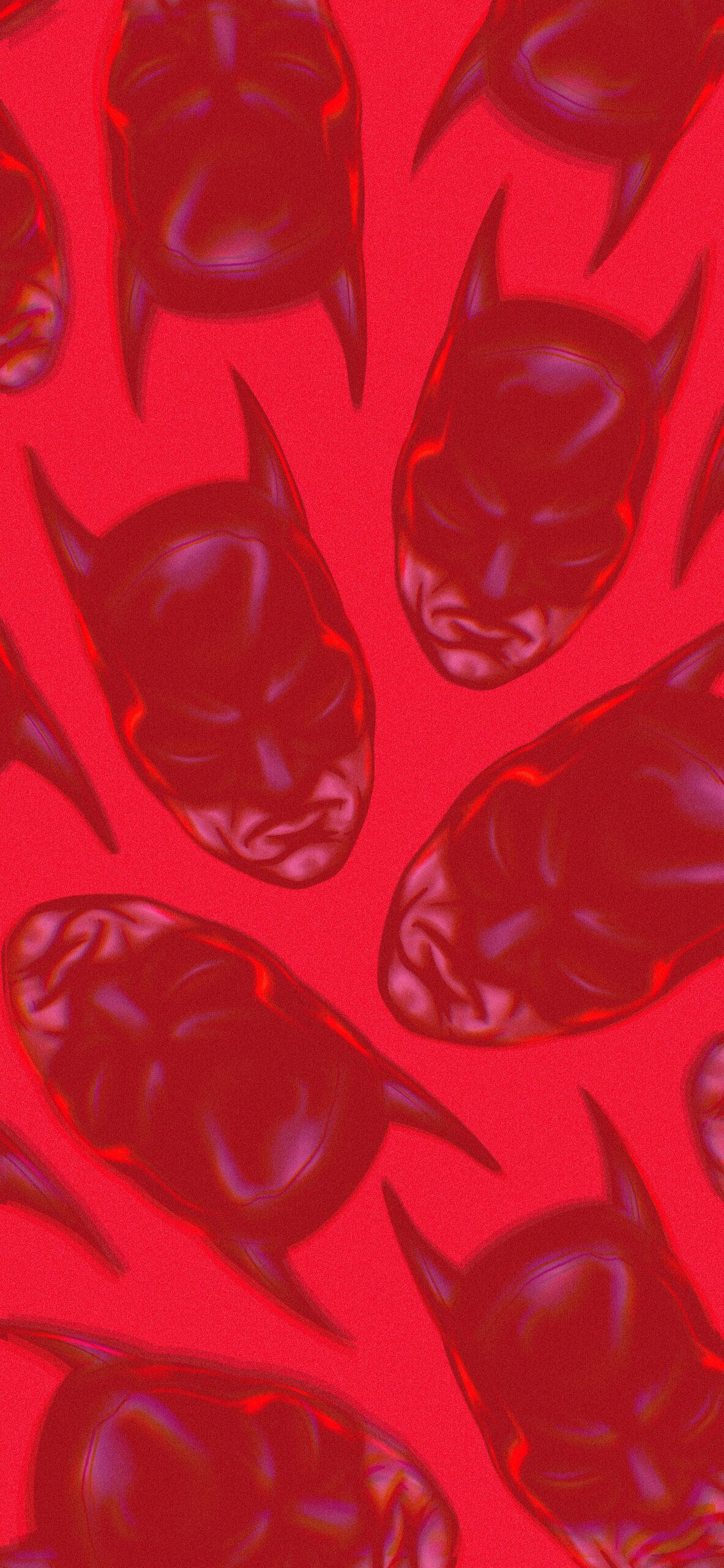 batman pattern red background