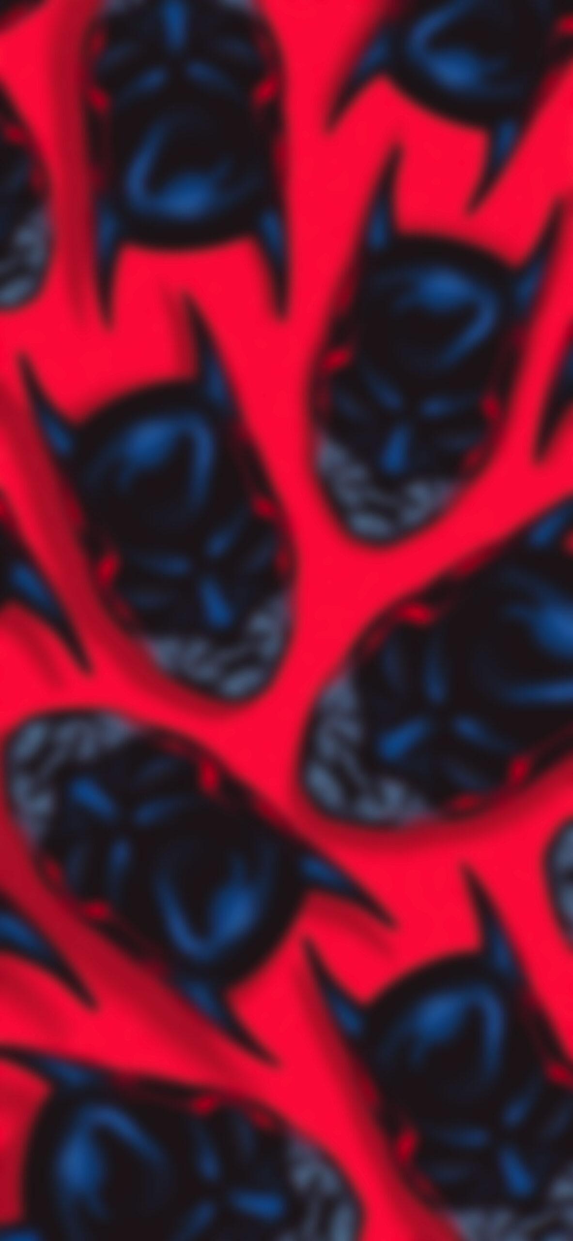 batman pattern red blur wallpaper