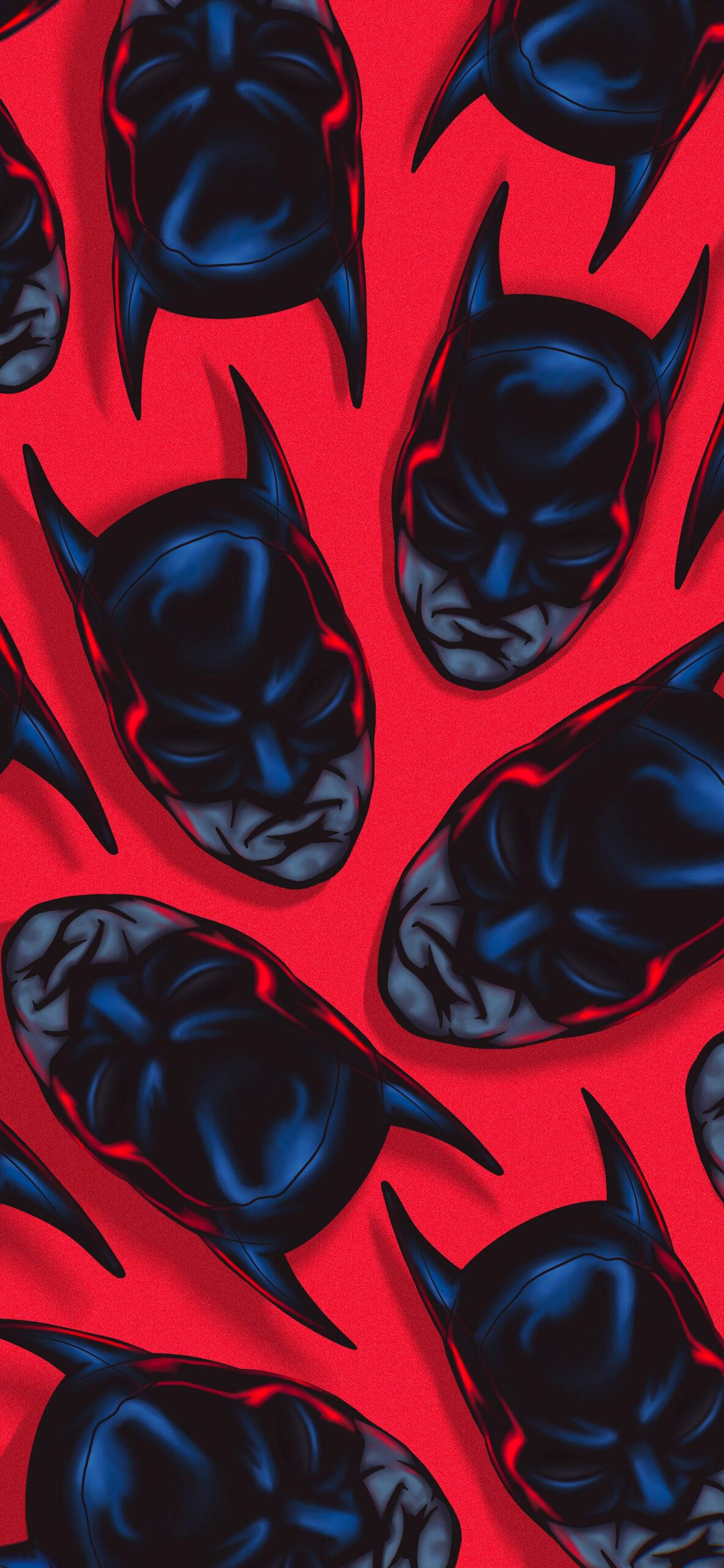 batman pattern red wallpaper