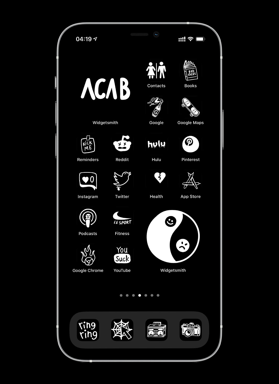 black tattoo app icons pack preview 2