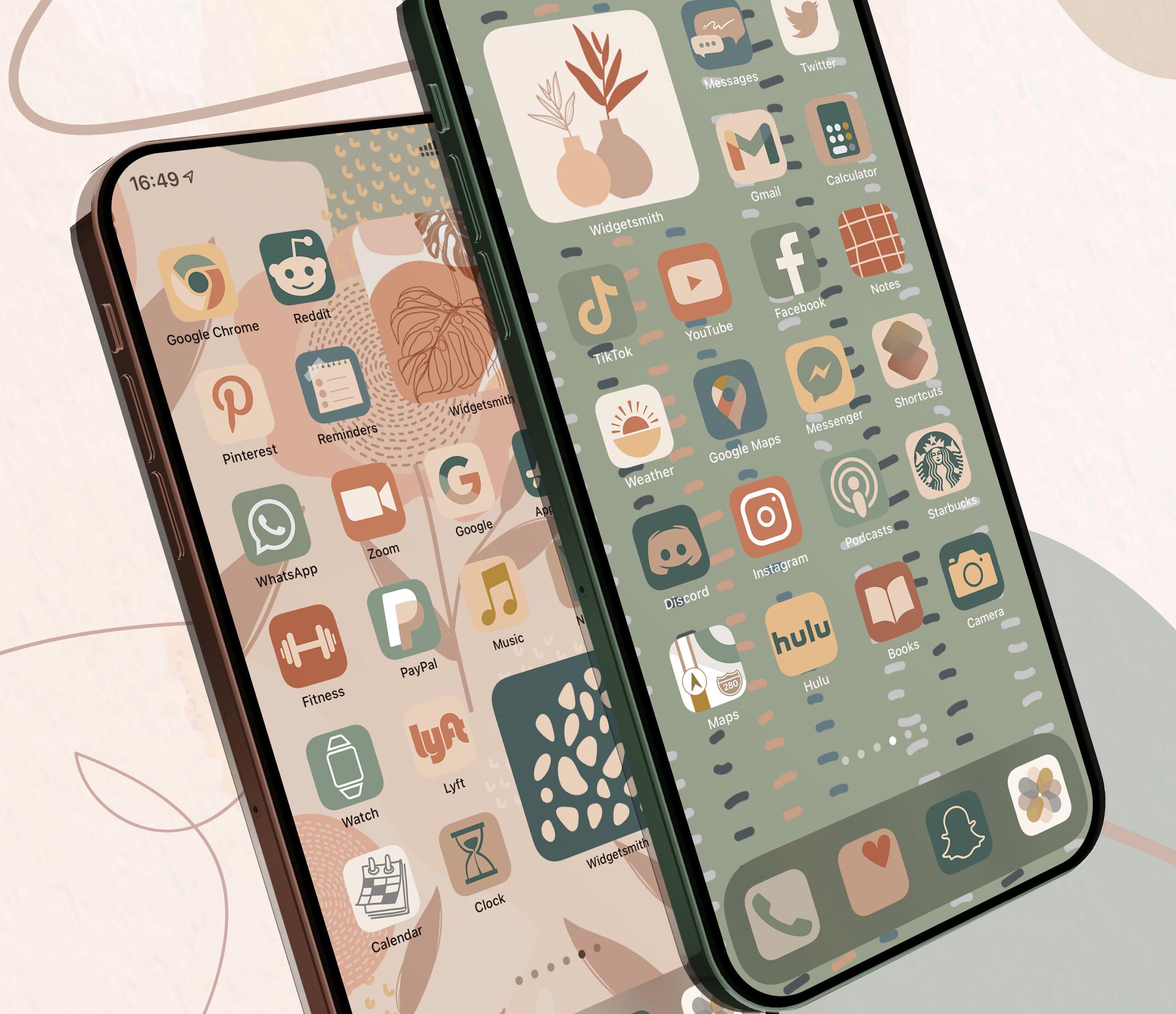 boho ios app icons pack preview 1