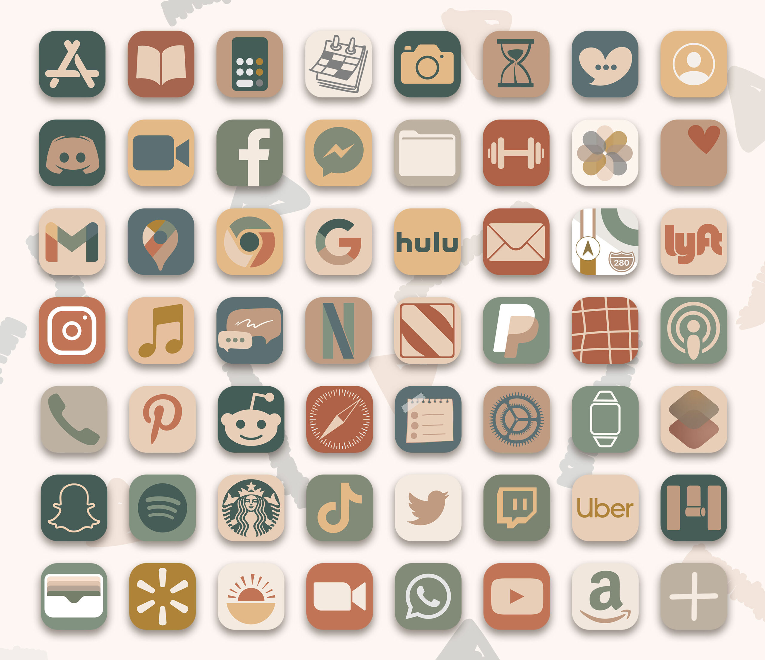 boho ios app icons pack preview 3