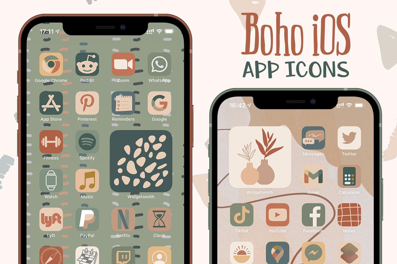boho ios app icons pack