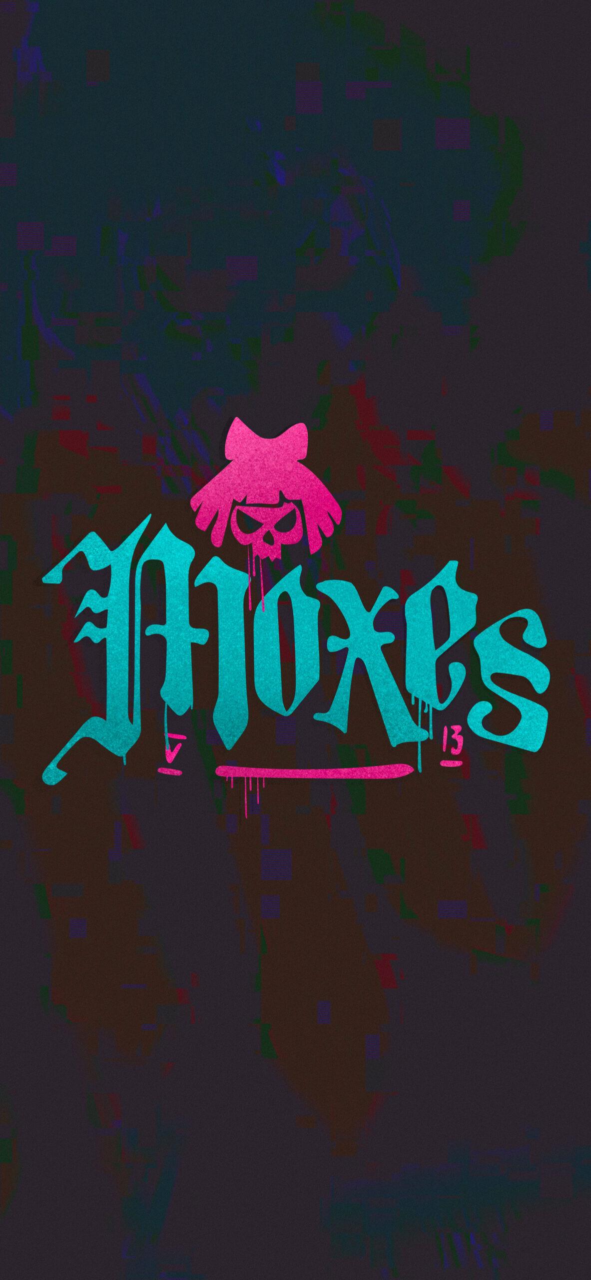cyberpunk 2077 moxes logo glitch dark wallpaper