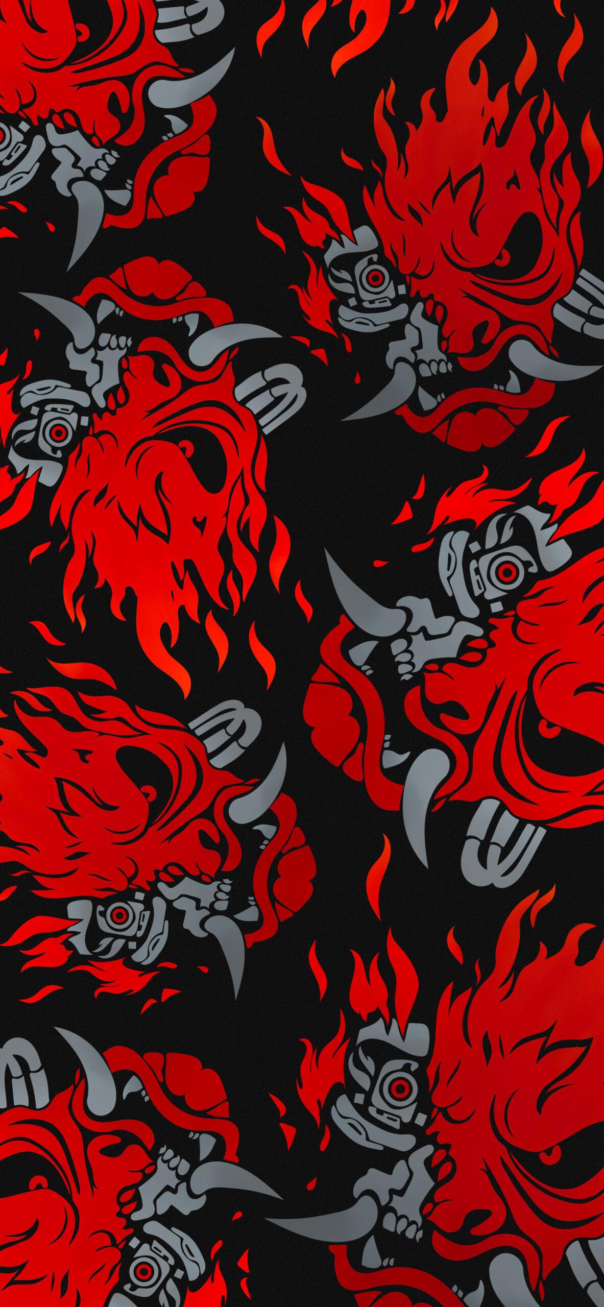 cyberpunk 2077 samurai logo black wallpaper 2