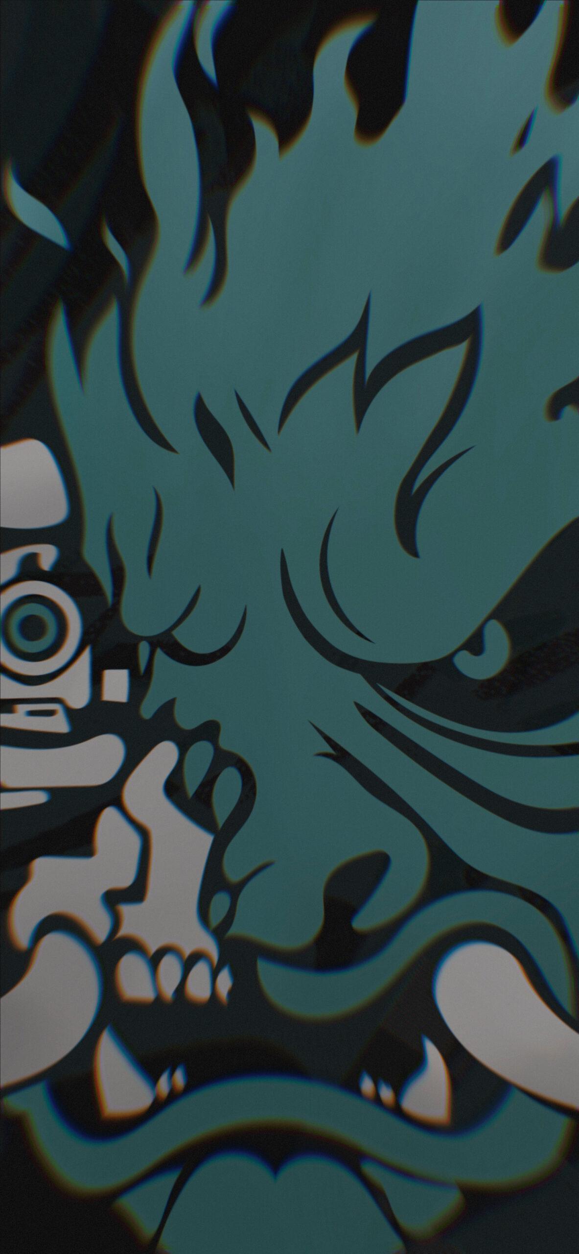 cyberpunk 2077 samurai logo red background