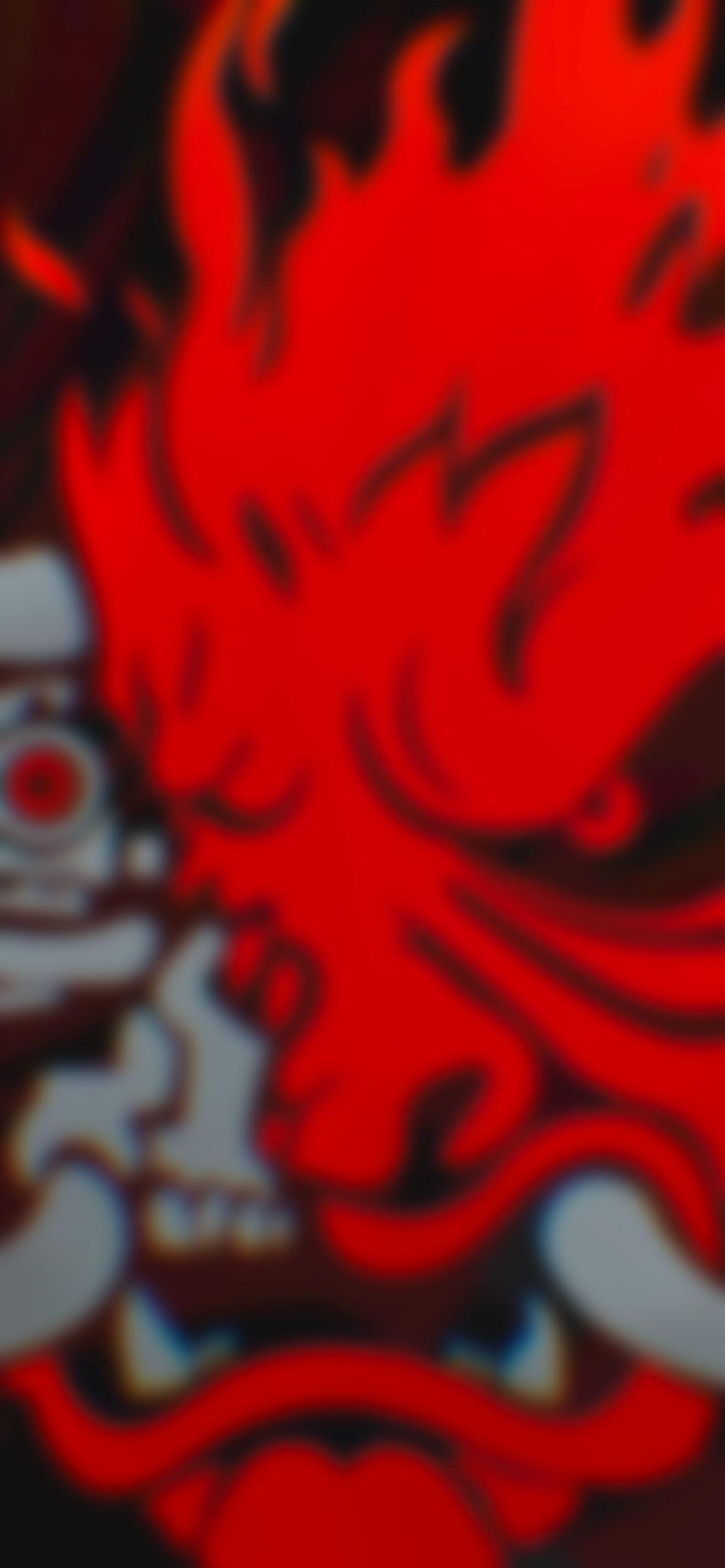 cyberpunk 2077 samurai logo red blur wallpaper
