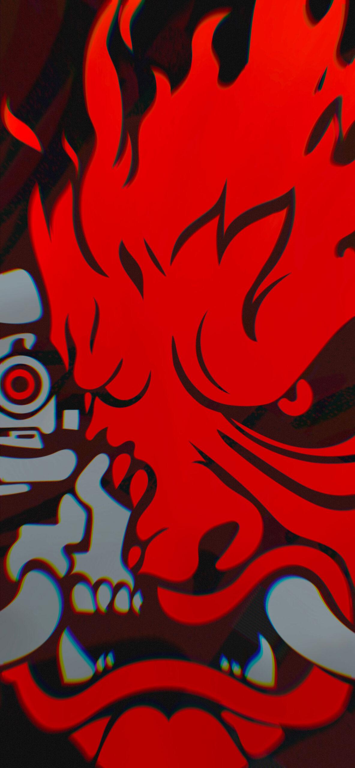 cyberpunk 2077 samurai logo red wallpaper