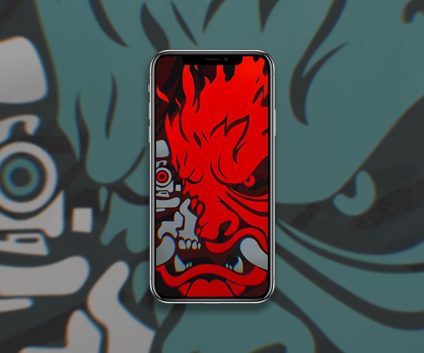 cyberpunk 2077 samurai logo red wallpapers collection