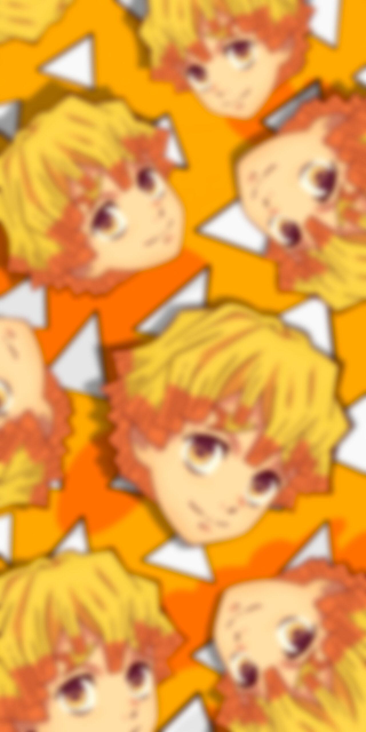 demon slayer zenitsu agatsuma haori yellow blur wallpaper
